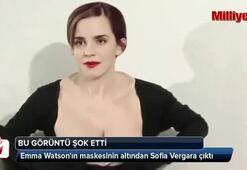Emma Watsonın maskesinin altından Sofia Vergara çıktı