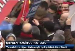 CHPlilerden Taksimde protesto