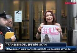 Transseksüel Efe sokak ortasında soyundu