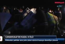 Çanakkalede kaza: 4 ölü