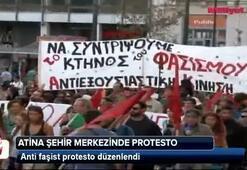 Atinada anti faşist protesto