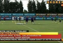 Madrid maçı öncesi Aysal ile Terim bir araya geldi
