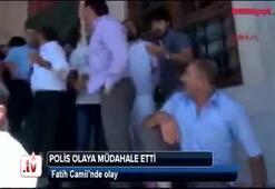 Fatih Camiinde olay