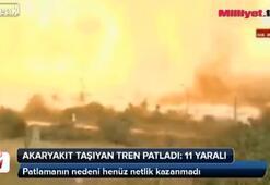 Akaryakıt taşıyan tren patladı: 11 yaralı