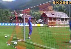 En ilginç antrenman golü
