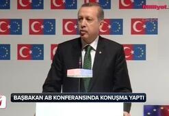 Başbakan Erdoğan AB Konferansında konuşma yaptı