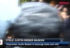 Otele Justin Bieber baskını