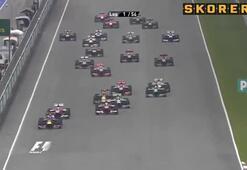 Formulada olaylı yarışı Vettel kazandı