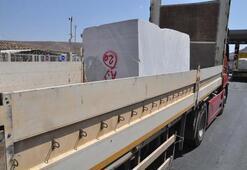 Cilvegözünden Suriyeye mermer ihracatı