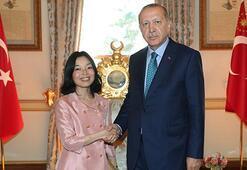 Cumhurbaşkanı Erdoğan, Japonya Prensesi Mikasa ile görüştü