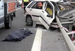 Son dakika... İstanbulda korkunç kaza Bariyerlere çakıldı