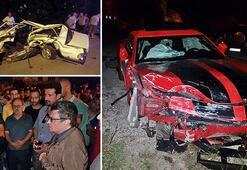 Kazada hurdaya dönen otomobilin sürücüsü öldü