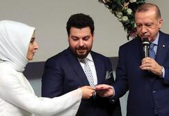 Cumhurbaşkanı Erdoğan ve eşi nikah törenine katıldı