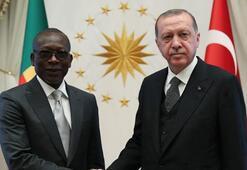 Cumhurbaşkanı Erdoğan mevkidaşı Talon ile bir araya geldi