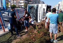 Mersinde kaza: 1i ağır 12 yaralı