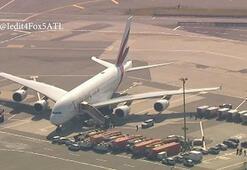 Son dakika... ABDde büyük panik: Uçak karantinaya alındı