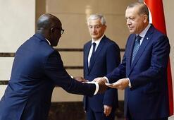 Cumhurbaşkanı Erdoğan, Gabon Büyükelçisini kabul etti