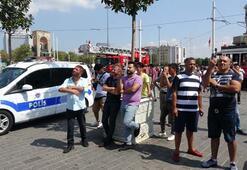 Son dakika... Taksim Meydanında intihar girişimi