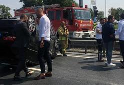 E-5te trafiği kilitleyen kaza Yaralılar var...