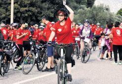 Kadınlar pedalladı bayrak 81 il gezdi