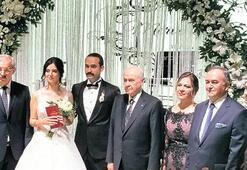 Bahçeli nikah şahidi oldu