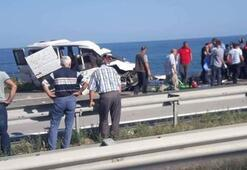 Son dakika: Karadeniz sahil yolunda kaza: 3 ölü, 1 yaralı