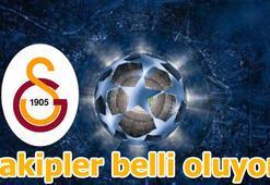 Galatasarayın rakipleri belli oldu Şampiyonlar Ligi kura çekimi