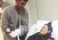 Genç anne, 8 aylık bebeği kucağında toprağa verildi