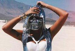 Süreyya Yalçının pırlanta kaplı iskelet maskesi