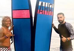 Rüzgar sörfü yaptı
