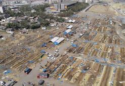 Boşalan kurban pazarı havadan görüntülendi