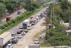 Karadenizde İstanbulu aratmayan trafik
