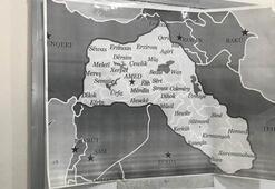 Polis baskınıyla ortaya çıktı Skandal harita