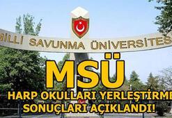 MSÜ Harp Okulları yerleştirme sonuçları açıklandı (MSÜ 2018)