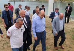 İçişleri Bakanı Soylu, yapımı süren yatırımları inceledi