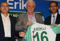 Bursasporun forma kol sponsoru Erikli oldu