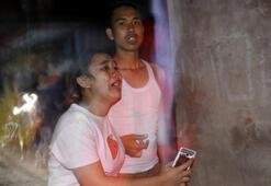 Son dakika... Endonezyada 7 büyüklüğünde deprem İlk fotoğraflar geldi