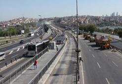 Haliç Köprüsü metrobüs yolu bakıma alınıyor Yol o saatlerde trafiğe kapanacak