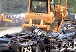 Duterte milyon TLlik araçları buldozerle ezdirdi