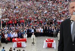 Cumhurbaşkanı Erdoğan şehit anne ve bebeğine son vedada konuştu: Atacağımız adım yakındır