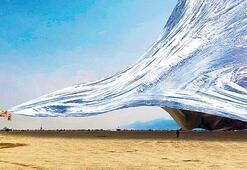 Burning Man festivaline devasa gölgelik