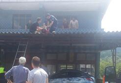 Avukat takla atan otomobilinden savrulup balkon saçağına uçtu