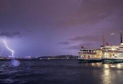 İstanbul, elektrik fırtınasına tutuldu