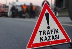 İşçi minibüsü devrildi: 11 yaralı