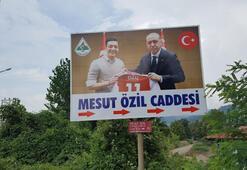 Zonguldaktaki Mesut Özil tabelası değişti