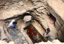 Mısırda bulunan lahitin içinden lağım suyu çıktı