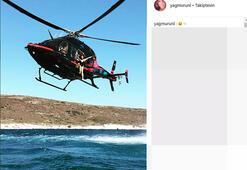 Yağmur Ünal helikopterden denize atladı