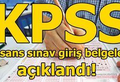 KPSS lisans sınav giriş belgesi nasıl alınır ÖSYMden 15 dakika uyarısı