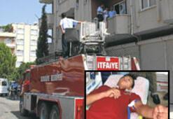 Balkona çıkınca kurtarıldı
