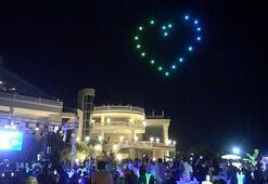 Ece Seçkin konserinde drone şov
